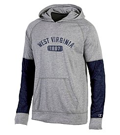 Champion® NCAA® West Virginia Mountaineers Men's Long Sleeve Colorblock Split Hoodie