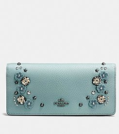 COACH SLIM WALLET WITH WILLOW FLORAL DETAIL