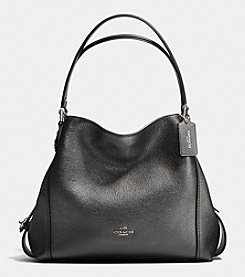 COACH EDIE SHOULDER BAG IN METALLIC LEATHER