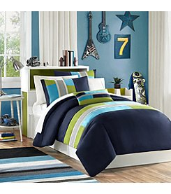 Pipeline Duvet Cover Set with Piecing