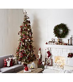 Living Quarters® Rustic Lodge 10' Artificial Pre-lit Pine Tree