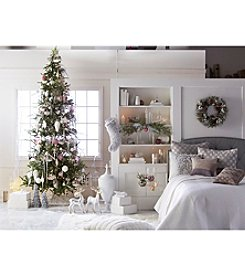 Living Quarters Winter Wonderland 9.5' Artificial Prelit Pine