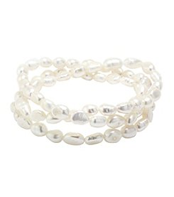 Athra Cultured Freshwater Pearl Bracelet Trio