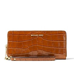 MICHAEL Michael Kors® Crocodile Embossed Travel Continental Wallet