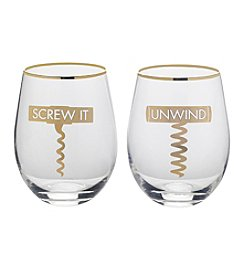 Mikasa Screw It/Unwind Wine Glasses