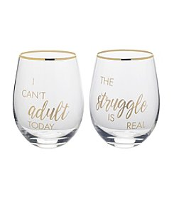 Mikasa Cant Adult/Struggle Is Real Glasses Set