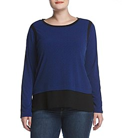 MICHAEL Michael Kors Plus Size Layered Look Top