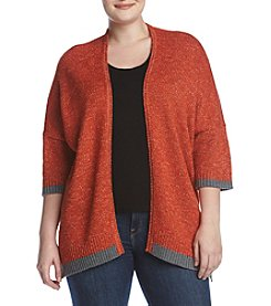 Democracy Plus Size Open Front Cardigan