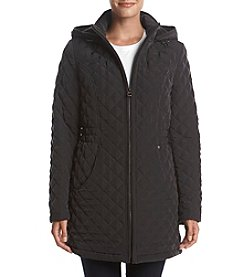 Laundry® Hooded Zip Front Quilted Coat