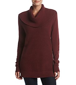 MICHAEL Michael Kors Ribbed Cowl Neck Sweater
