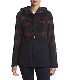 Rampage Hooded Plaid Coat