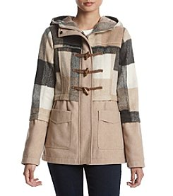 Rampage Stella Sandy Buffalo Plaid Coat