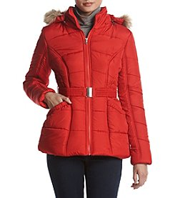 Rampage Brianna Belted Puffer Coat