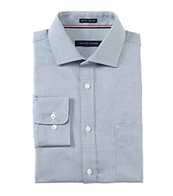 Tommy Hilfiger Men's Mini Textured Print Slim Fit Dress Shirt