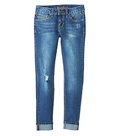 Vigoss® Girls' 7-16 Heart Patch Skinny Jeans