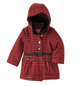 London Fog® Baby Girls' 12M-24M Houndstooth Wool Coat