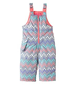 London Fog® Baby Girls' Chevron Heart Snowbib Pants