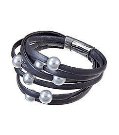 Relativity® Multi Row Cord Bracelet with Pearls