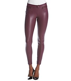 HUE® Faux Leather Leggings