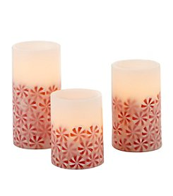 Order Home Collection 3 Piece  Peppermint LED Candle Set