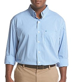 IZOD Men's Big & Tall Long Sleeve Gingham Button Down Shirt