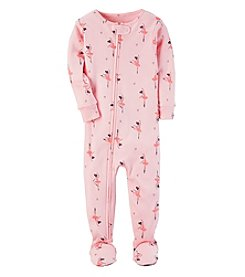 Carter's Baby Girls' 12M-4T One Piece Ballerina Pajamas