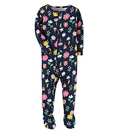Carter's Baby Girls' 12M-4T One Piece Flower Pajamas