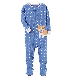 Carter's Baby Girls' 12M-4T One Piece Dog Pajamas