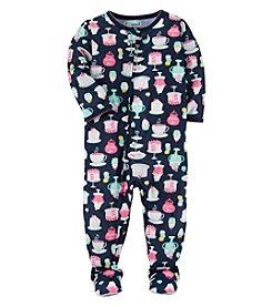 Carter's Baby Girls' 12M-24M One Piece Cupcake Print Pajamas