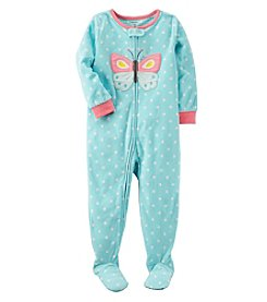 Carter's Baby Girls' 12M-4T One Piece Butterfly Fleece Pajamas