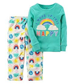 Carter's Baby Girls' 12M-14 2 Piece Rainbow Cotton Pajamas