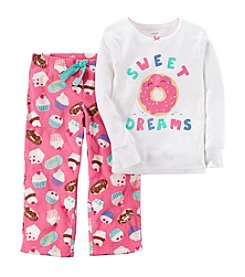 Carter's Baby Girls' 12M-14 2 Piece Donut Fleece Pajamas