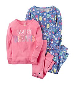 Carter's Girls' 4-12 4 Piece Sweet Dreams Snug Fit Cotton Pajamas