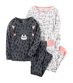 Carter's Girls' 4-12 4 Piece Cat Snug Fit Cotton Pajamas