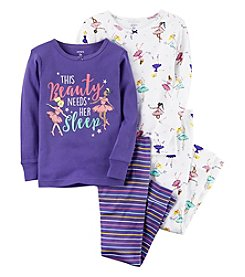 Carter's Girls' 4-12 4 Piece Ballerina Snug Fit Cotton Pajamas