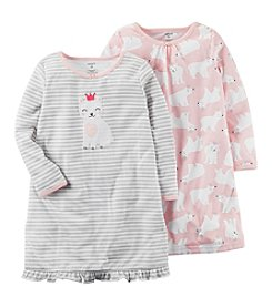 Carter's Girls' 4-14 2-Pack Sleep Gowns