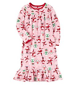 Carter's Girls' 4-14 Microfleece Christmas Sleep Gown