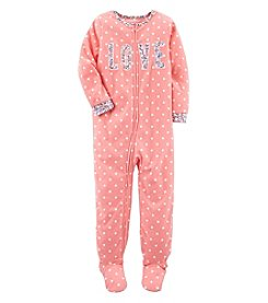 Carter's Girls' 10-14 One Piece Love Fleece Pajamas