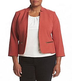 Nine West® Plus Size Zip Pocket Zip Jacket