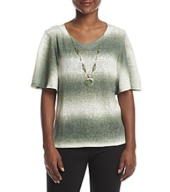 Alfred Dunner Petites' Ombre Flutter Sleeve Top