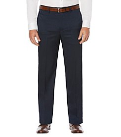 Savane Men's Big & Tall Cross Hatch Stretch Flat Front Pants
