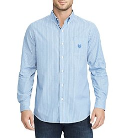 Chaps Men's Easycare Woven Striped Button Down