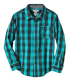 Calvin Klein Boys' 8-20 Long Sleeve Bold Check Shirt
