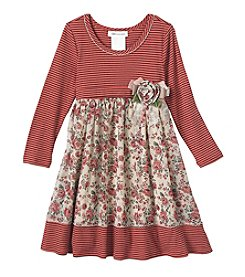 Bonnie Jean® Girls' 2T-6X Striped Dress And Floral Skirt Set