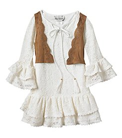 Rare Editions Girls' 4-6X Lace Boho Dress Set