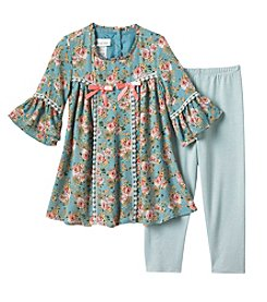 Bonnie Jean® Girls' 2T-6X Bell Sleeve Tunic And Leggings Set