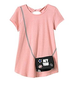 Jessica Simpson Girls' 7-16 Screen Print Purse Tee
