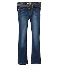Squeeze Girls' 7-14 Big Buckle Bling Bootcut Jeans