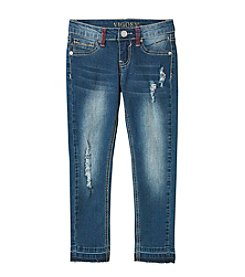 Vigoss® Girls' 7-16 Released Hem Skinny Jeans