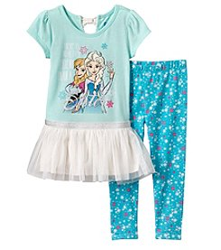 Disney® Girls' 2T-4T Frozen Sister Top And Leggings Set